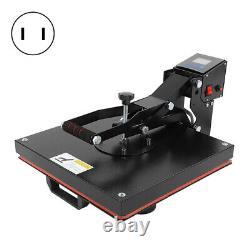 15x15 Heat Press Machine Digital Transfer Semi-automatic Level Time Control US