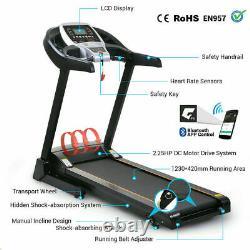 2.25Hp APP Control Folding Treadmills with 3Level Manual Incline Running Machine