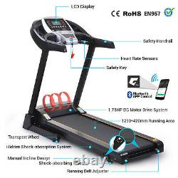 2.5Hp APP Control Folding Treadmills with 3Level Manual Incline & Auto Lubrication