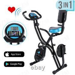 3-in-1 APP Control Folding Exercise Bike 10-Level Adjustable Magnetic Resistance