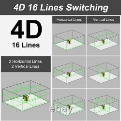 4D Cross Lines Green Laser Level Measure With Remote Control OSRAM Light Source