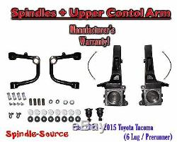 4 Lift Spindles + UPPER CONTROL ARMS, fits 2005 2018 Toyota Tacoma Prerunner