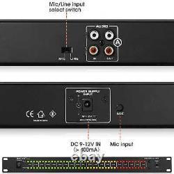 80 LED Music Audio Spectrum DB Analyzer MIC control Stereo Sound Level Meter