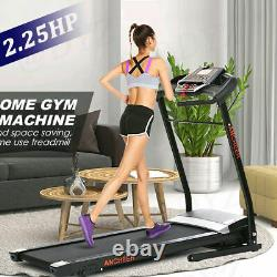 ANCHEER Electric Treadmill Folding Running Machine 3-Level Incline APP Control