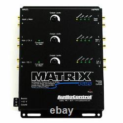AUDIOCONTROL MATRIX PLUS 6-CHANNEL LINE DRIVER With OPTIONAL LEVEL CONTROL BLACK