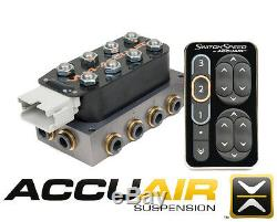 AccuAir Switch Speed Controller Nickel VU4 Valve Manifold with Pressure Sensor