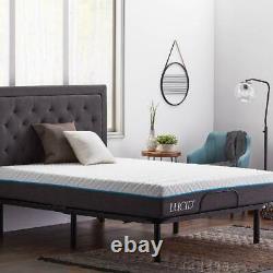 Adjustable Bed Base Remote Control Heavy Duty Multi Position Sleep Room Queen
