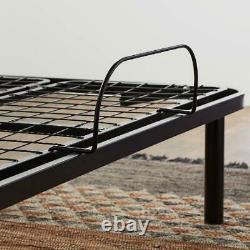 Adjustable Bed Base Remote Control Heavy Duty Steel Multi Position Sleep Room