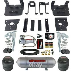 Air Bag Tow Kit White Controls Compressor & Tank For 2011-16 Ford F250 F350 4x4
