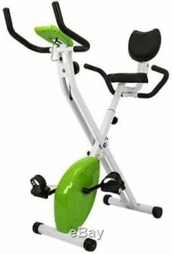 AuWit Magenetic Exercise Bike withMulti Level Control Adjustable LCD Machine Green