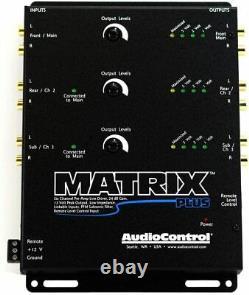 AudioControl Matrix Plus Black Six Ch Line Driver with Remote Level Control Input
