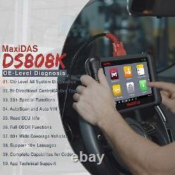 Autel DS808K MaxiDAS OE Level Diagnostic Scanner Bi-Directional Control, DS808