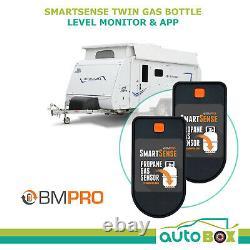 BMPRO SmartSense Twin Bottle Level Monitor App Controlled Caravan Camping RV