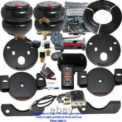 B Air Helper Spring Kit chevy gmc 1500 2001-2010 Compressor Bluetooth and Horn