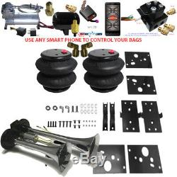 B Air Leveling Tow Kit 2500 RAM 2014-2019 No Drill Bluetooth Controller & Horn