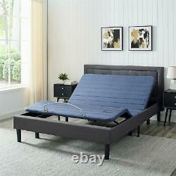 Bed Frame Queen Adjustable With 8-Button Wireless Remote Control 6 Steel Legs