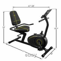 Bluetooth App Magnetic Recumbent Exercise Bike 8Level Resistance Adjustable Seat