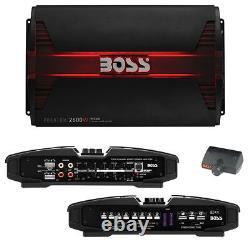 Boss PHANTOM 2600 Watts 4 Channel Power Amplifier Remote Subwoofer Level Control