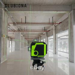 CLUBIONA 3D Green Laser Level Self-Leveling 12 Cross Lines with Remote Control Kit