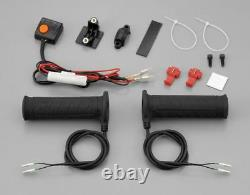 Daytona Motorcycle Bike 4Level Heat Control Heated Grips Closed End For 1 Bars