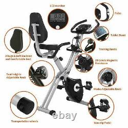 Folding Exercise Bike Cycling Bike+App Control 10-level magnetic resistance HOME