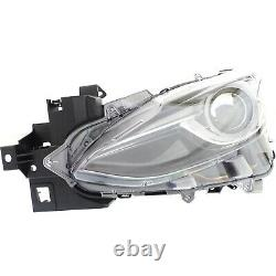 Headlight Lens and Housing For 2014-2018 Mazda 3 Driver Side