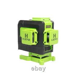 Huepar laser level 903DG, Remote control, Green Self-leveling, 12 Lines