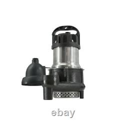 ION 1/3 HP Cast Iron Stainless Steel Sump Pump with Digital Level Control HP20157