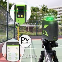 Laser Level Green Beam Bluetooth control 3D 360 Cross Line self leveling Huepar