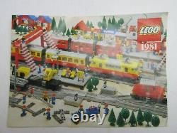 Lego 7866 vintage REMOTE CONTROLLED ROAD LEVEL CROSSING TRAIN 12v set COMPLETE