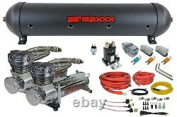 Level Ride Pressure Only Airmaxxx Chrome 480 Air Management withComplete Wire Kit