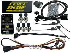 Level Ride Pressure Only airmaxxx Chrome 580 Spun Aluminum Air Management Kit