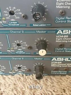 Lot of 3 Ashly VCM-88 Eight Channel VCA Matrixing Level Controller All Power On