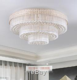 Luxury K9 Crystal LED Chandelier Remote Control Restaurant Home Ceiling Light