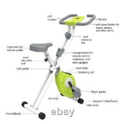 Magenetic Exercise Bike withMulti Level Control Adjustable LCD Machine Green AA