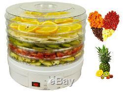 New 5 Level Tier Food Dehydrator Food Fruit Dryer Preserver Temperature Control
