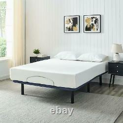 Power Adjustable Bed Frame Wireless Remote Control Queen Size 80 In