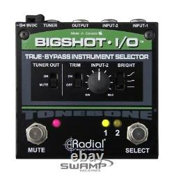 Radial BigShot-I/O Instrument Selector True-bypass Shunt Level Control A/B Pedal