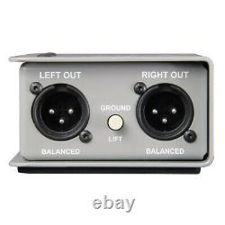 Radial Engneering Trim-Two Passive Stereo Direct DI Box with Level Control