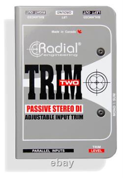 Radial Trim-Two Passive DI for AV with level control, BEST OFFER R014
