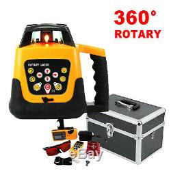 Ridgeyard Automatic Self-Leveling Rotary Laser Level Red Beam Remote Control
