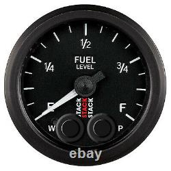 Stack Pro Analogue Control Fuel Level Electrical Gauge In Black