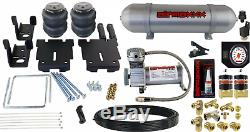 Tow Assist Air Bag Suspension Kit White Gauge & Tank Fits 2007-18 Chevy 1500 pu