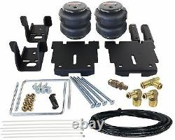Tow Assist Air Bag Suspension Kit White Gauge & Tank For 2007-18 Chevy 1500 pu