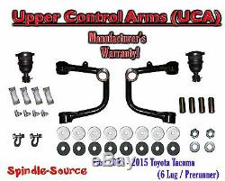 UPPER CONTROL ARMS UCA, fits 2005 2018 Toyota Tacoma 6 Lug / Prerunner 2WD 4WD