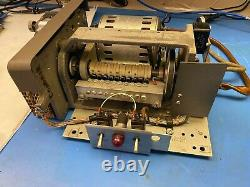 Vintage mechanical paper tape reader, 8 level 1 Commercial Controls Corp