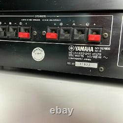 Yamaha M-4 Power Amplifier withLevel Meter R/L Level Controls Tested