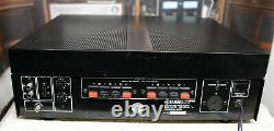 Yamaha M-4 power amplifier with LED watt meters, R/L level controls, and more