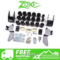 Zone Offroad 3 Body Lift Kit 07-13 Chevy GMC Silverado Sierra 1500 C9350